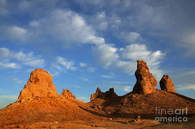 Trona Pinnacles Golden Hour Poster by Bob Christopher