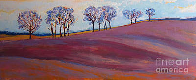 Tufts In Early Spring Poster by Allison Coelho Picone