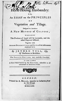 Tull: Title Page, 1762 Poster by Granger