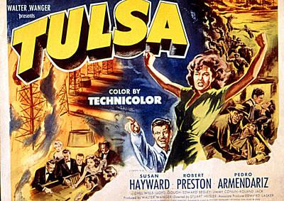 Tulsa, Robert Preston, Susan Hayward Poster by Everett