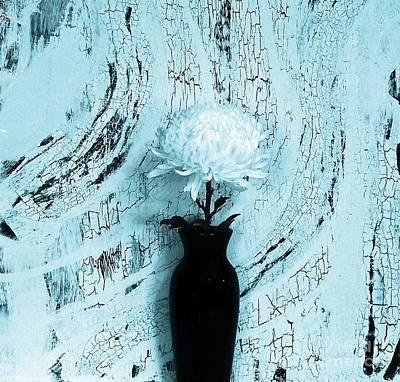 Turquoise Single Mum Poster by Marsha Heiken
