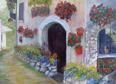 Tuscany Street Poster by Loretta Luglio