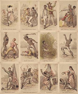 Twelve Illustrated Cards Narrating Poster by Everett