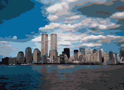 Twin Towers Color 16 Poster by Scott Kelley