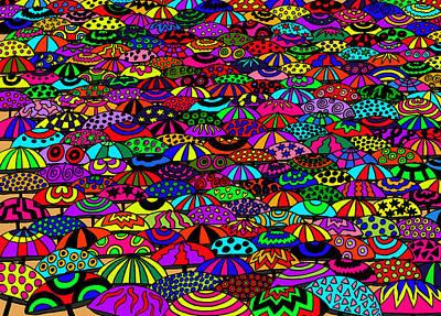 Umbrellas Poster by Karen Elzinga