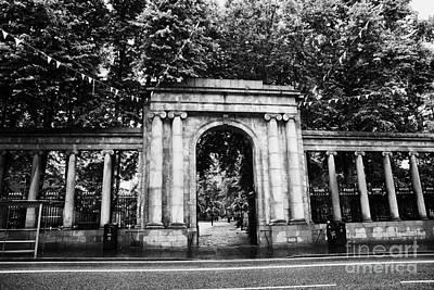 union street facade to the old kirkyard churchyard o the kirk of St Nicholas aberdeen scotland uk Poster by Joe Fox