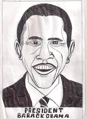 United State President Barack Obama Poster by Ademola kareem oshodi