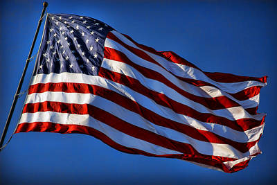 United States Of America - Usa Flag Poster by Gordon Dean II