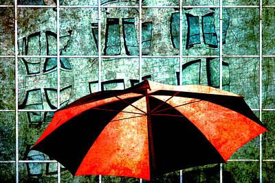 Urban Umbrella Poster by Randall Nyhof