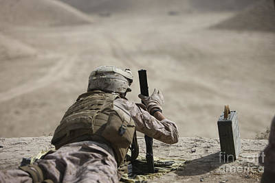 U.s. Marine Clears A Pk General-purpose Poster by Terry Moore