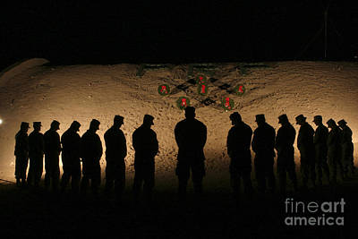 U.s. Marines Bowing Their Heads Poster by Stocktrek Images