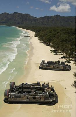 U.s. Navy Landing Craft Land Poster by Stocktrek Images