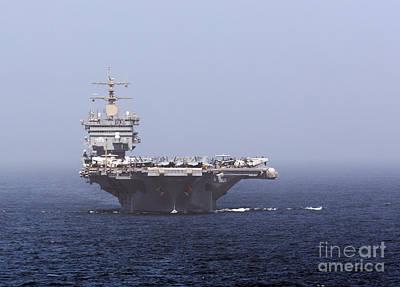 Uss Enterprise In The Arabian Sea Poster by Gert Kromhout
