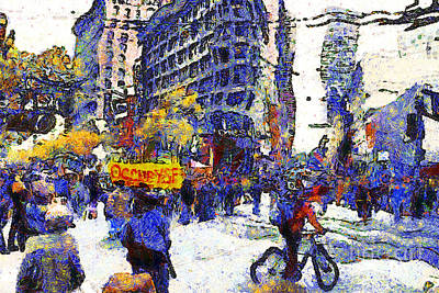 Van Gogh Occupies San Francisco . 7d9733 Poster by Wingsdomain Art and Photography