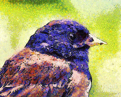 Van Gogh.s Little Chickadee . 7d6397 Poster by Wingsdomain Art and Photography