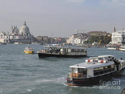 Vaporettos . Venice Poster by Bernard Jaubert