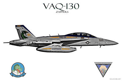 Vaq-130 Growler Poster by Clay Greunke