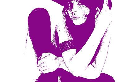 Vera Purple Poster by Naxart Studio