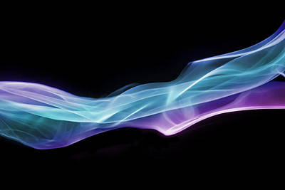 Vibrant Blue Smoke Poster by Anthony Bradshaw