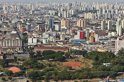 View Of Sao Paulo Skyline Poster by Jacobo Zanella