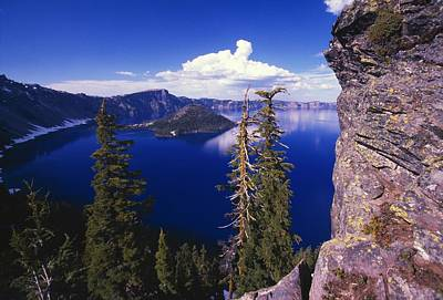 View Of Wizard Island At Crater Lake Poster by Natural Selection Craig Tuttle