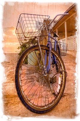 Vintage  Bicycle Poster by Debra and Dave Vanderlaan