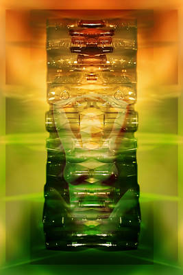 Vintage Bottles Poster by Rich Beer