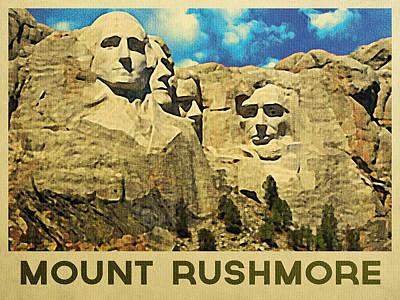 Vintage Mount Rushmore Poster by Flo Karp