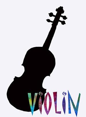 Violin Poster by Jenny Armitage