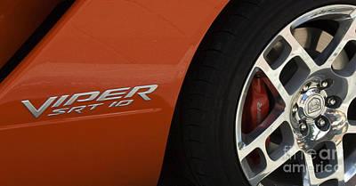 Viper Srt 10 Emblem And Wheel Poster by Bob Christopher