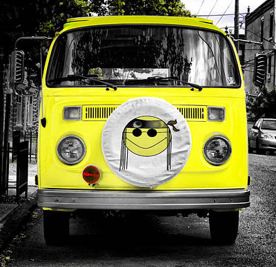 Volkswagon Hippie Bus Poster by Bill Cannon