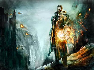 Warrior Of The Day Poster by Amalia Iuliana Chitulescu