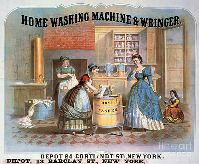 Washing Machine Ad, 1869 Poster by Granger