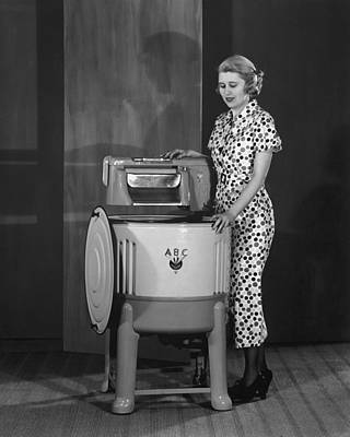 Washing Machine Poster by Archive Photos