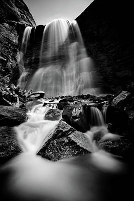 Waterfall Down The Mountains Poster by © Francois Marclay