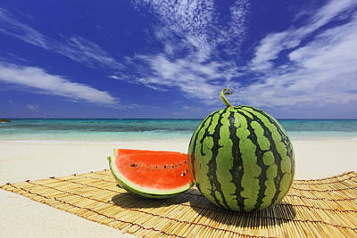 Watermelon On Placemat Poster by Imagewerks