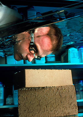 Waterproof Bricks Poster by Volker Steger