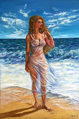 Waves Poster by Yelena Rubin