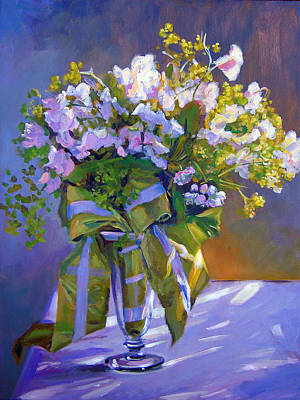 Wedding Bouquet Poster by David Lloyd Glover