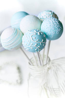 Wedding Cake Pops Poster by Ruth Black