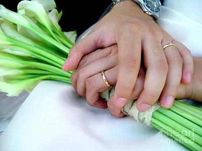 Wedding Rings Poster by Carlos Caetano