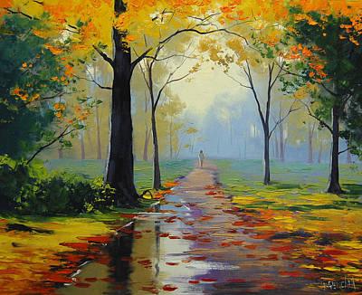 Wet Road Poster by Graham Gercken