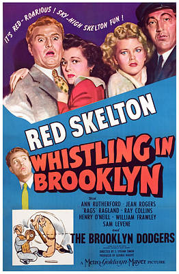 Whistling In Brooklyn, Red Skelton, Ann Poster by Everett