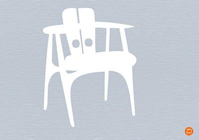White Chair Poster by Naxart Studio