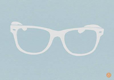 White Glasses Poster by Naxart Studio
