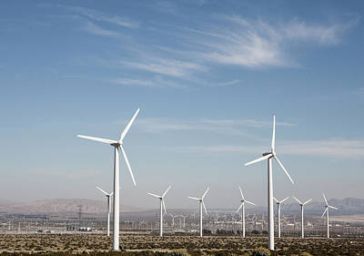 Wind Farm In The Dessert Poster by Frank Rothe