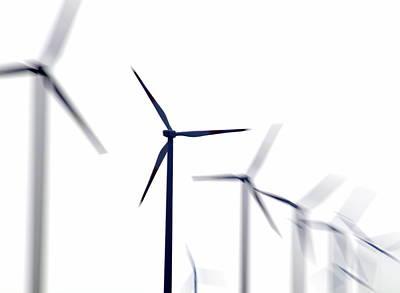 Wind Turbines Poster by Pasieka