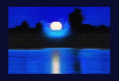 Windswept Moonrise  Poster by Steve Ohlsen