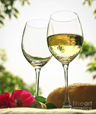 Wine Glasses Poster by Elena Elisseeva