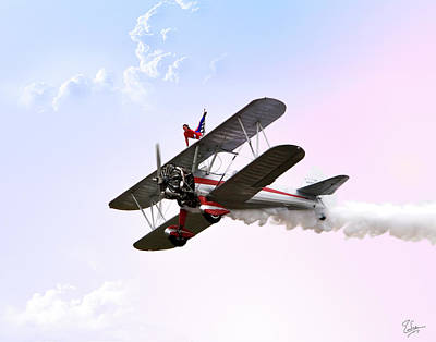 Wing Walker  Poster by Endre Balogh